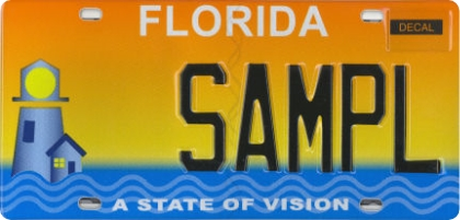 State of vision license plate that's available at the DMV